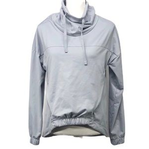 Fabletics grey funnel neck pullover